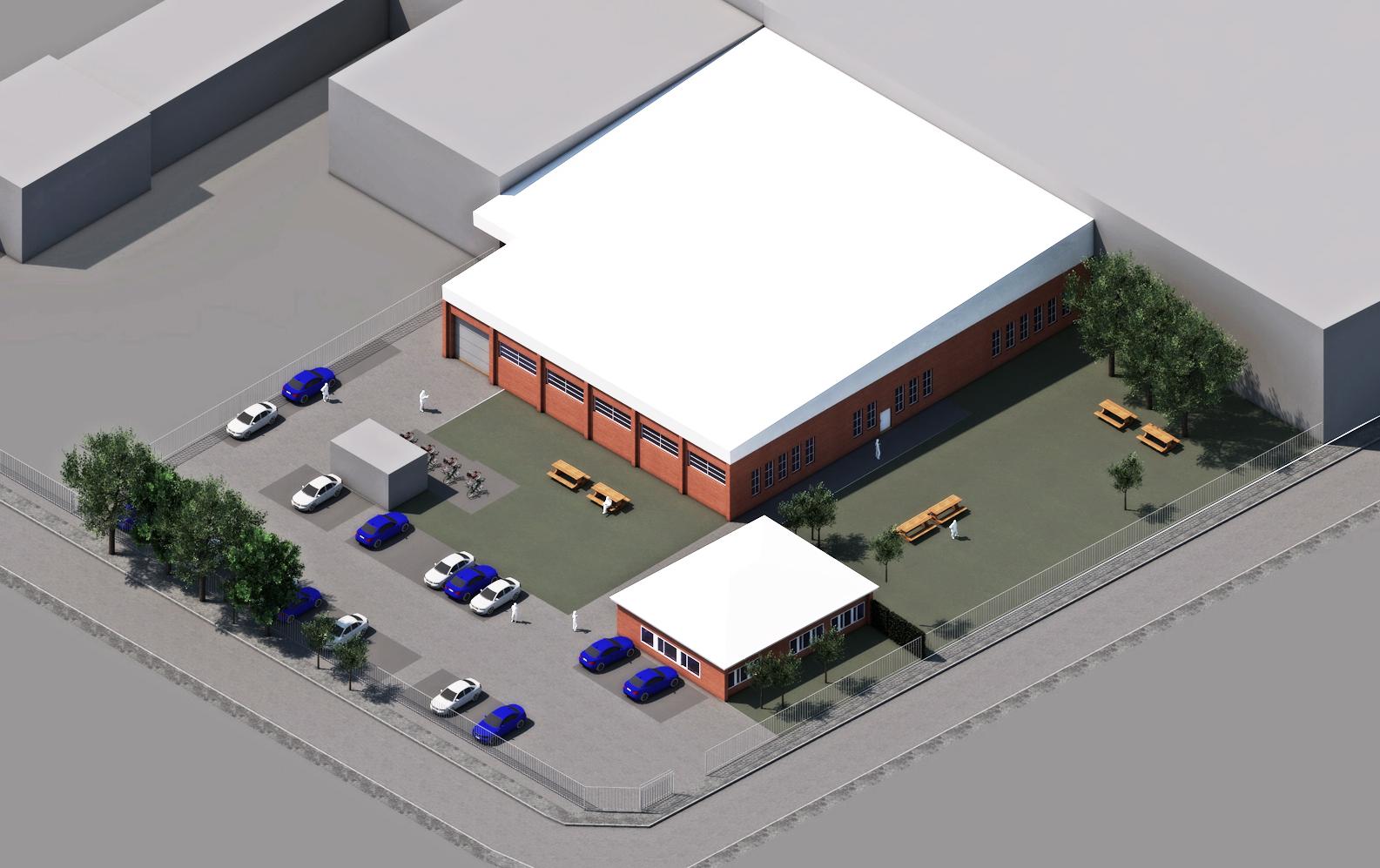 Umbau einer Gewerbehalle zu einer Boulderhalle